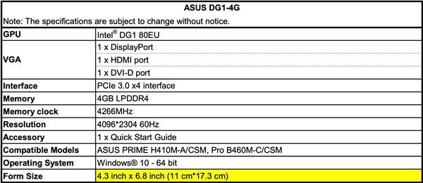 Intel独显参数曝光4G显存